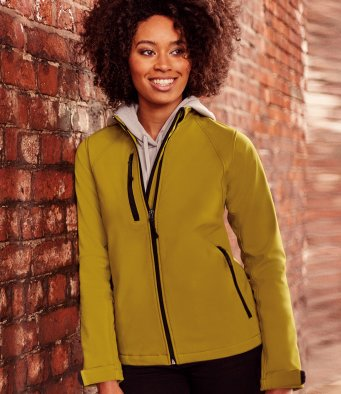 Women's softshell jacket by Russell Collection