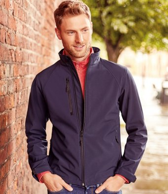 Men's softshell jacket by Russell Collection