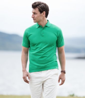Men's 100% cotton polo shirt by Henbury