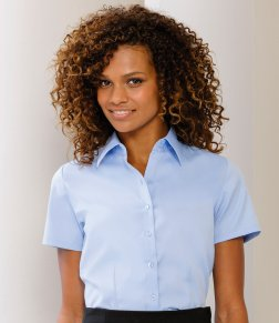 Receptionist uniform ideas - woman wearing short sleeved shirt