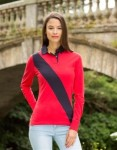 Henbury FR112 ladies diagonal stripe rugby shirt
