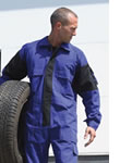 mens overall coverall logo embroidered or printed workwear
